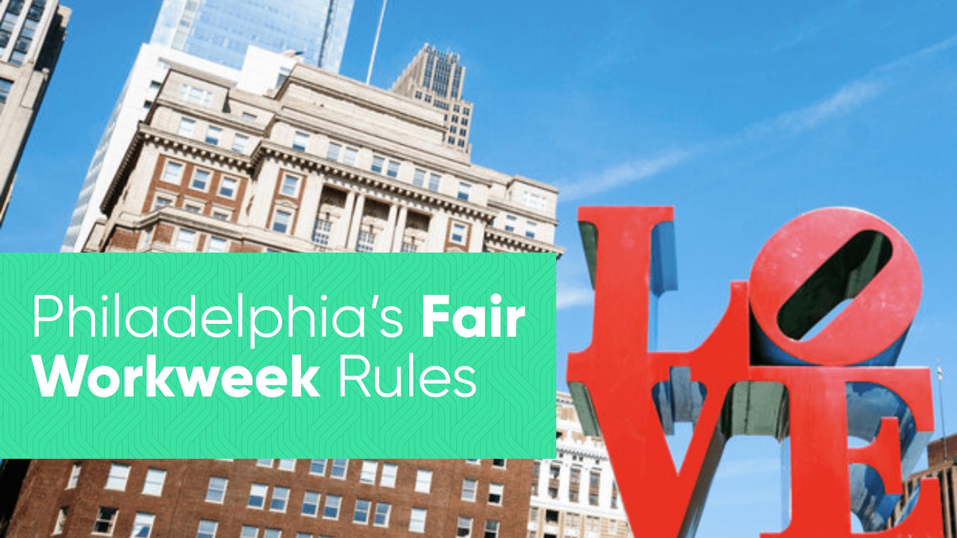 Philadelphia Fair Workweek for hospitality