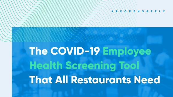 Employee Health Screening tools for restaurants