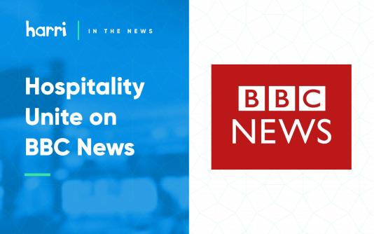 Hospitality Unite on BBC news