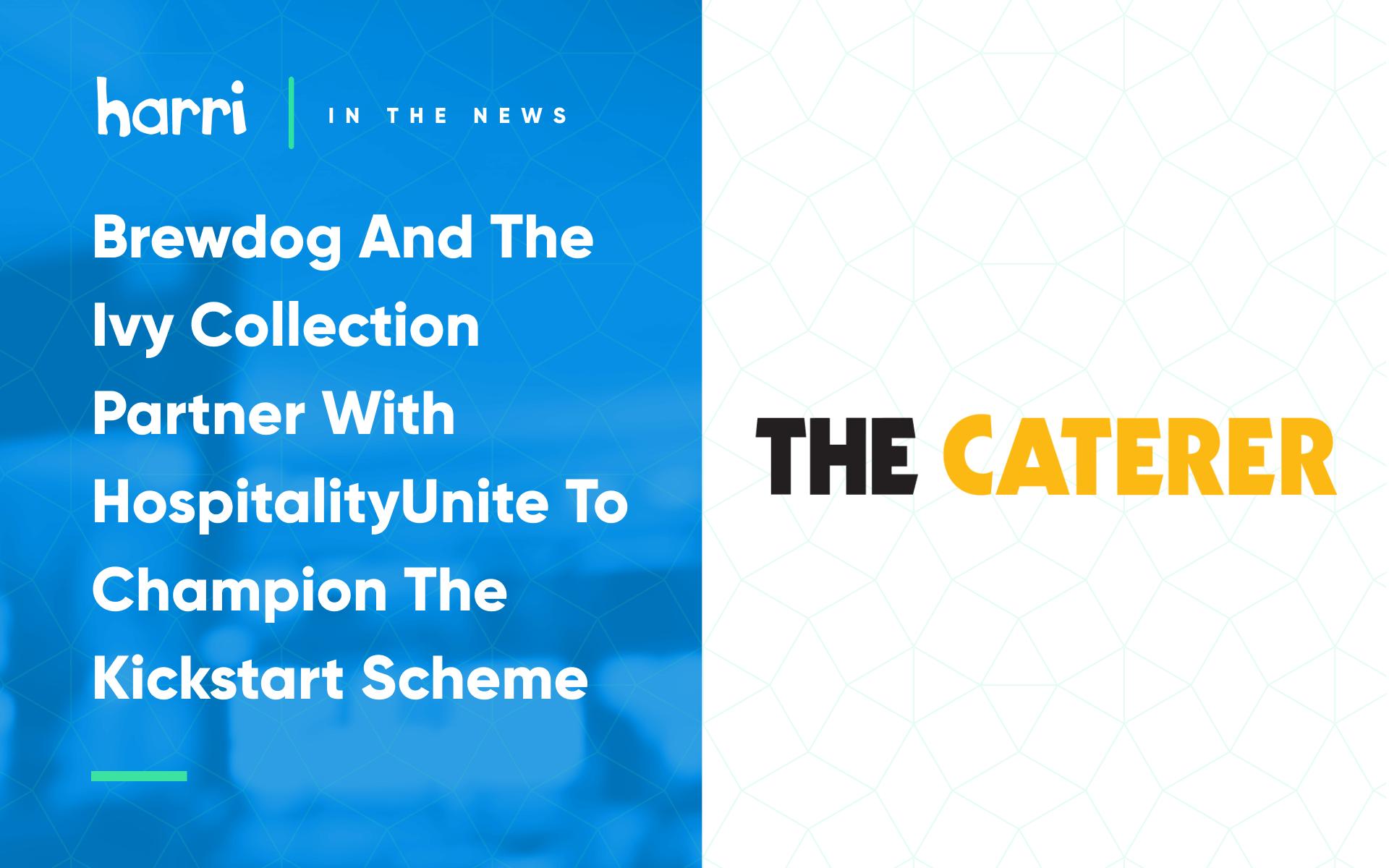 BrewDog and The Ivy Collection support Kickstart Scheme
