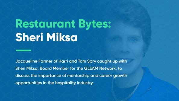 Restaurant Bytes Sheri Miksa hospitality industry mentorships