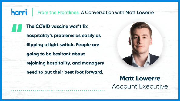 From the Frontlines Matt Lowerre emplyoee burnout