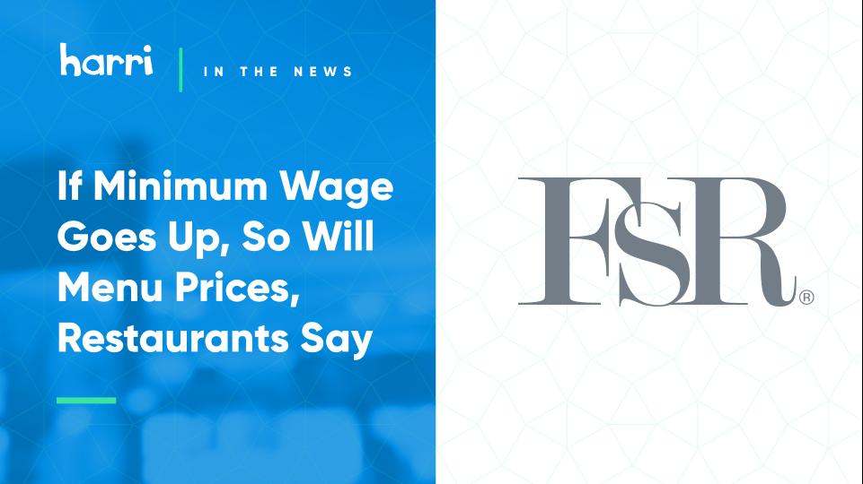 Restaurants are preparing for a $15/hr minimum wage
