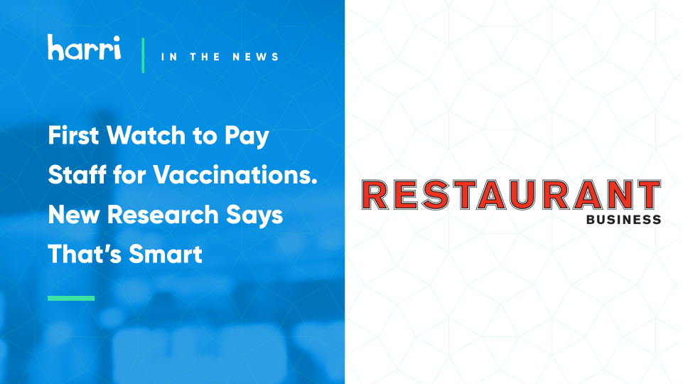 vaccine incentives in hospitality