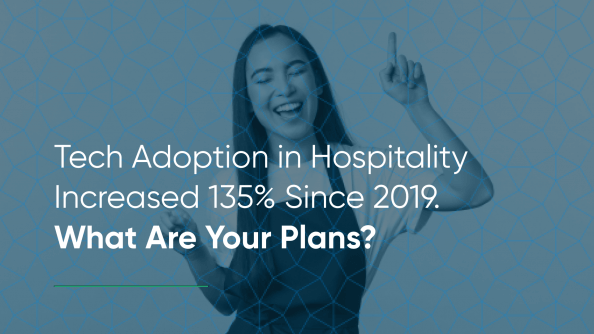 tech adoption in hospitality is up 135%