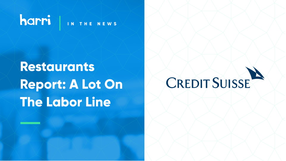 Restaurants Report: A Lot On The Labor Line