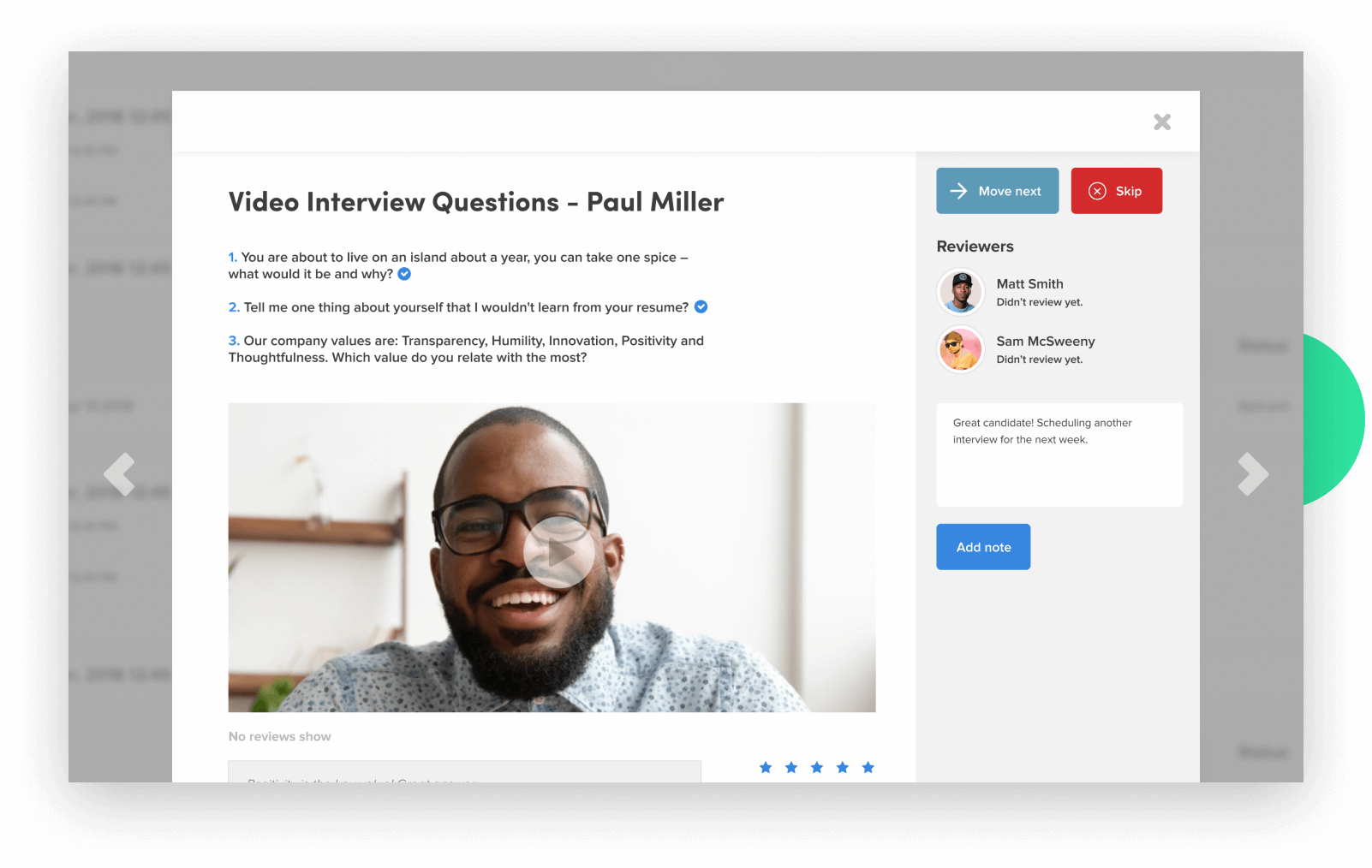 Interview Management and Video Interviewing
