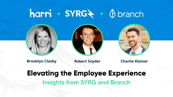 Harri employee experience webinar with SYRG and Branch