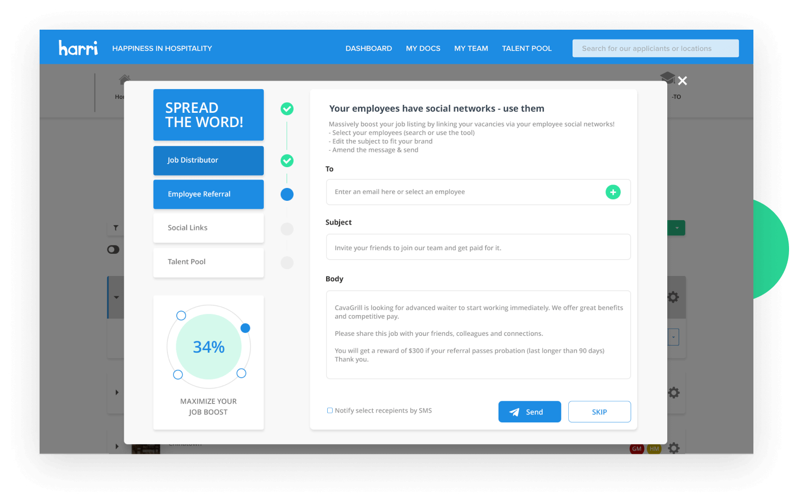 how to set up an employee referral program